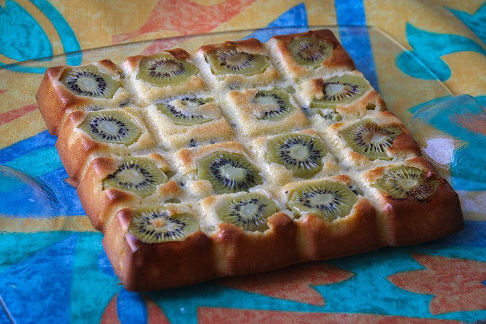 Gâteau aux kiwis, façon clafoutis