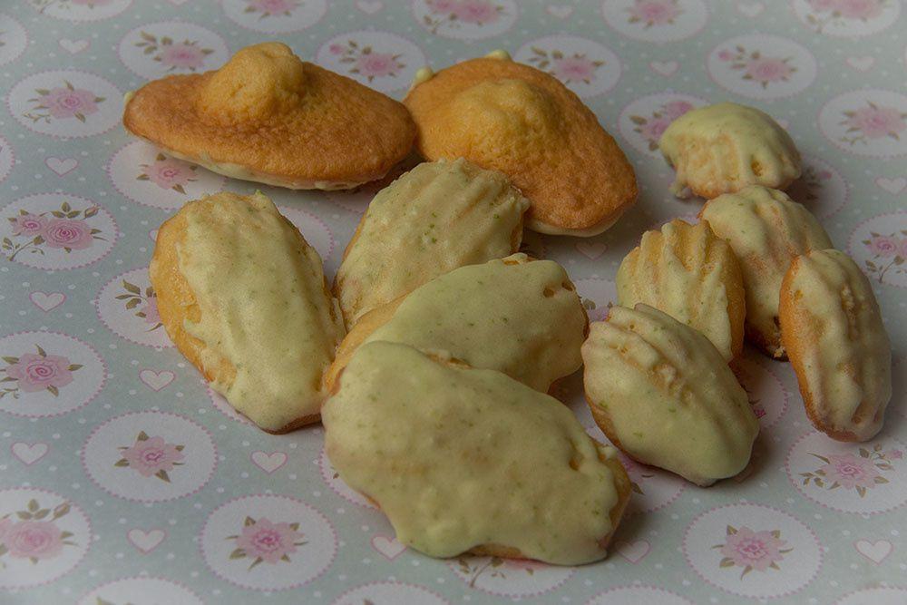 Madeleines au citron vert (au Thermomix ou sans)