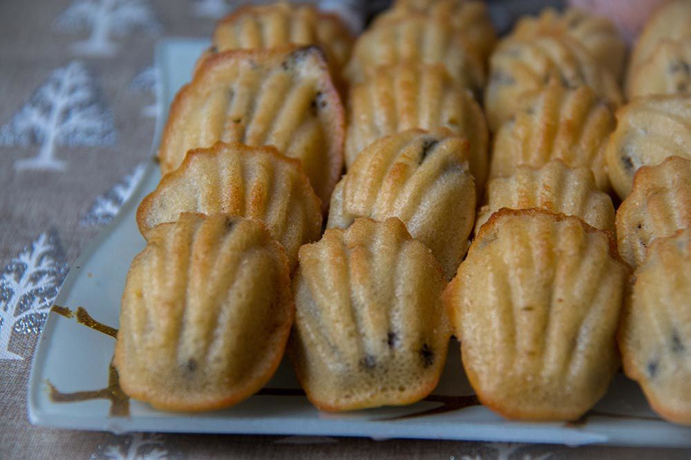 Mini madeleines aux olives