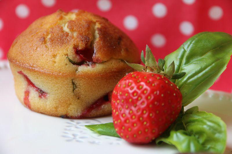 Muffins Fraises Basilic
