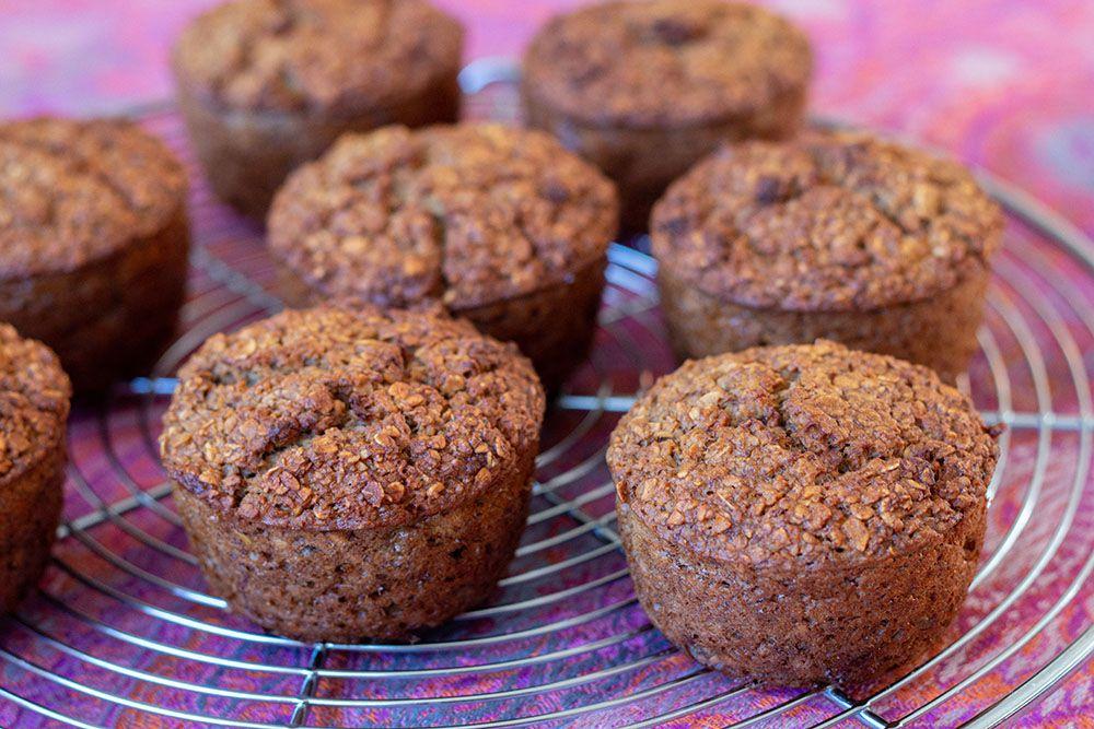 Muffins banane et flocons d'avoine