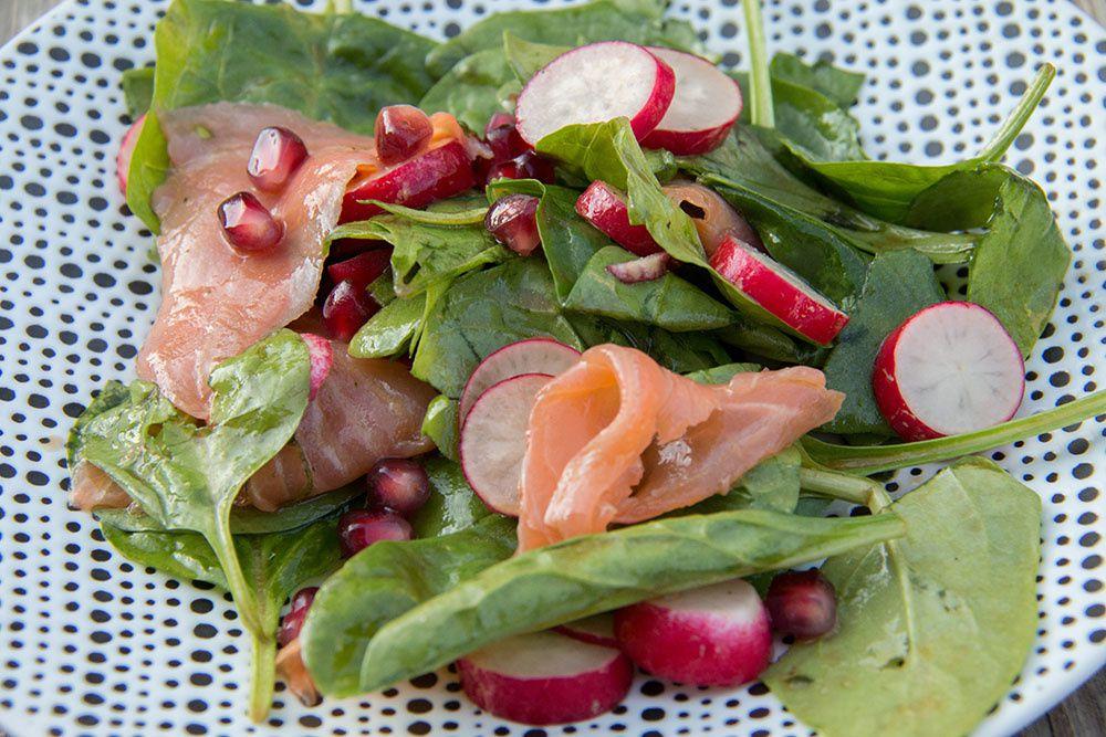 Salade Epinards - Saumon fumé