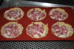 Petites tourtes au jambon (ou aux lardons)
