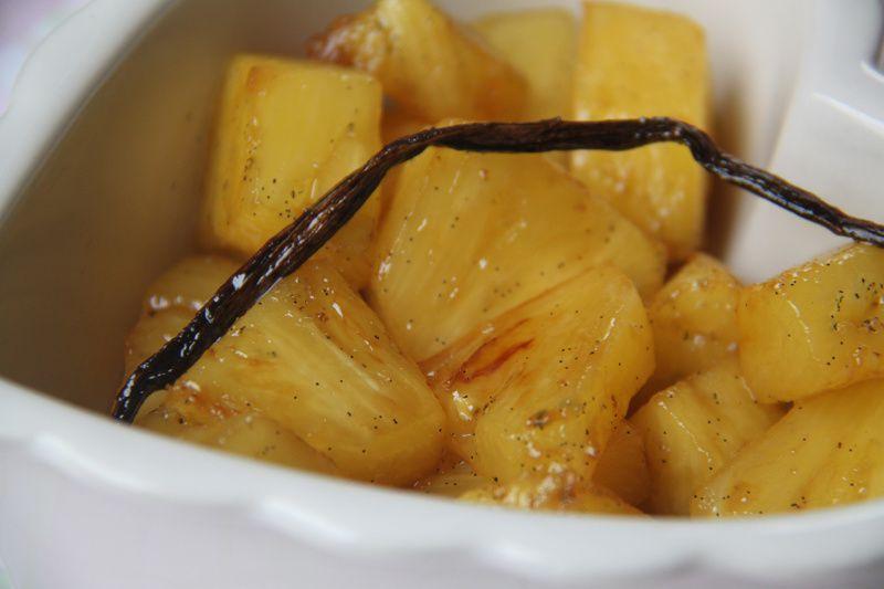 Ananas caramélisé, beurre salé et gousse de vanille