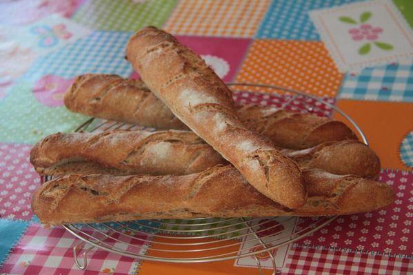 Baguettes semi complètes au levain Kayser