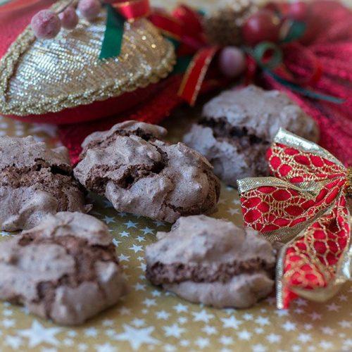 Baisers au chocolat et aux amandes chatzy (Bredeles 2019)