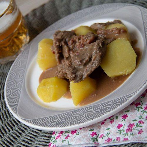 Boeuf au pain d'épices et pommes vapeur (au Thermomix)
