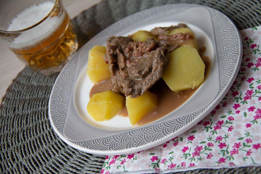 Bœuf au pain d'épices et pommes vapeur (au Thermomix)
