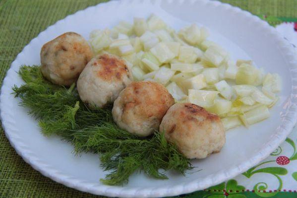 Boulettes de poulet au Pastis et au fenouil