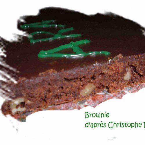 Brownie recouvert de ganache d'après Christophe Felder 2