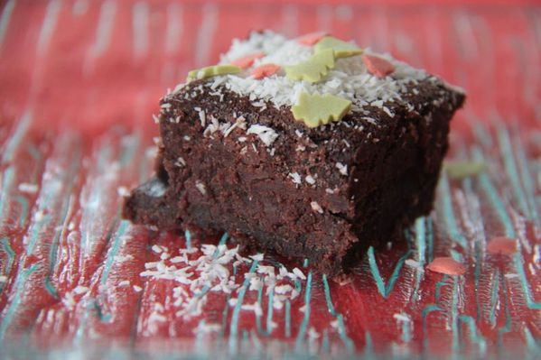 Brownies chocolat café et neige de coco