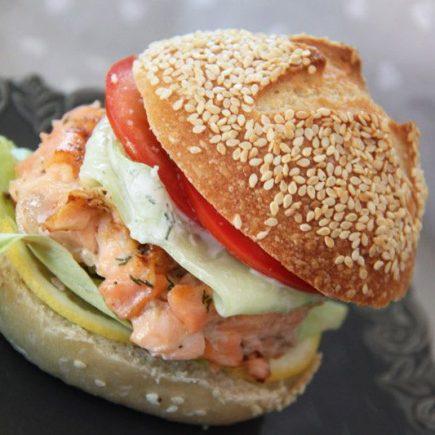 Burgers nordiques aux deux saumons