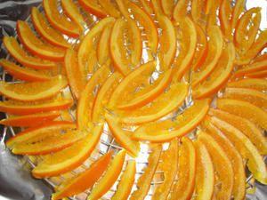 Orangettes et écorces d'orange