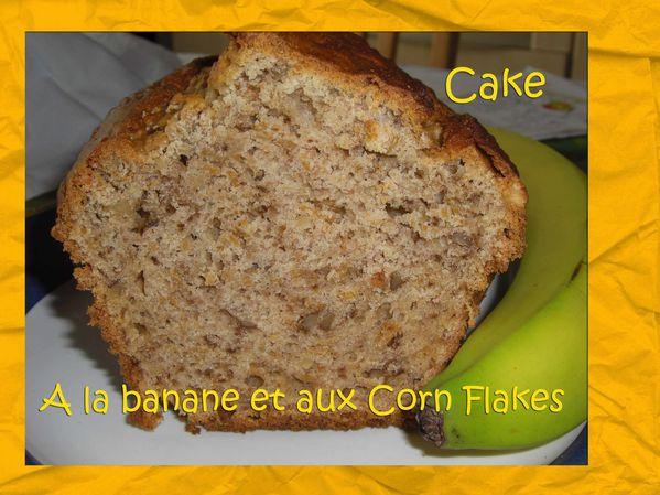 Cake à la banane et aux Corn Flakes
