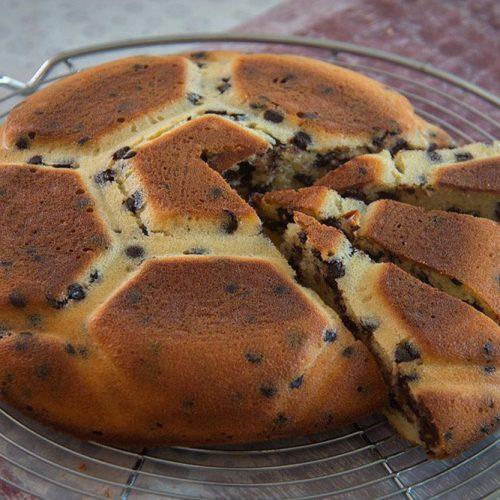 Cake au fromage blanc et aux pépites de chocolat