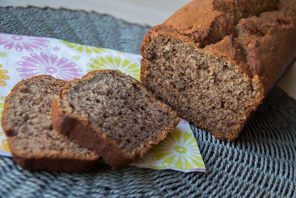 mes recettes de cakes sucrés cake à la banane et aux noix