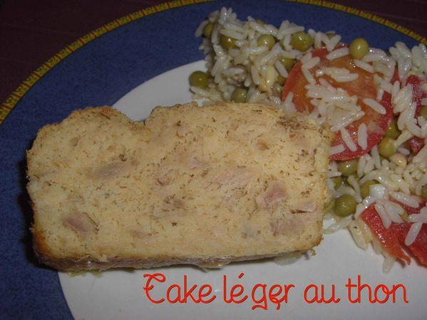 Cake léger au thon
