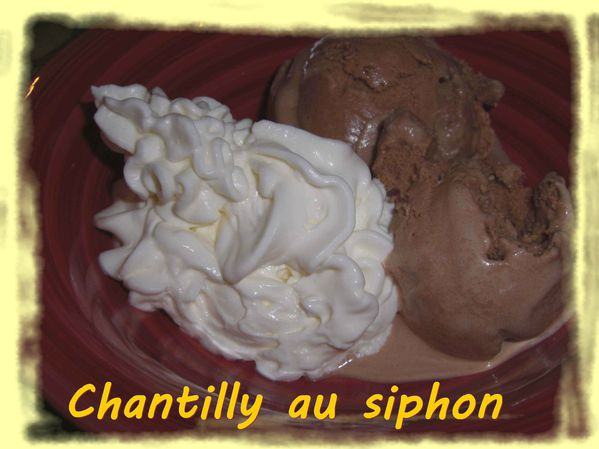 Chantilly au siphon