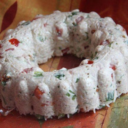 Charlotte riz, thon et poivron rouge (recette Tupperware)