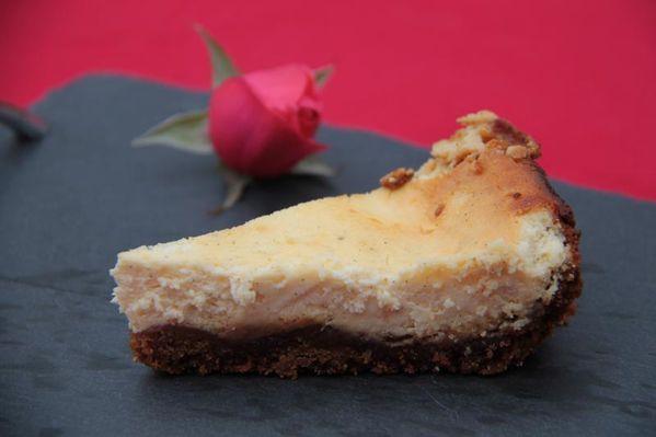 Cheesecake à la ricotta et caramel au beurre salé