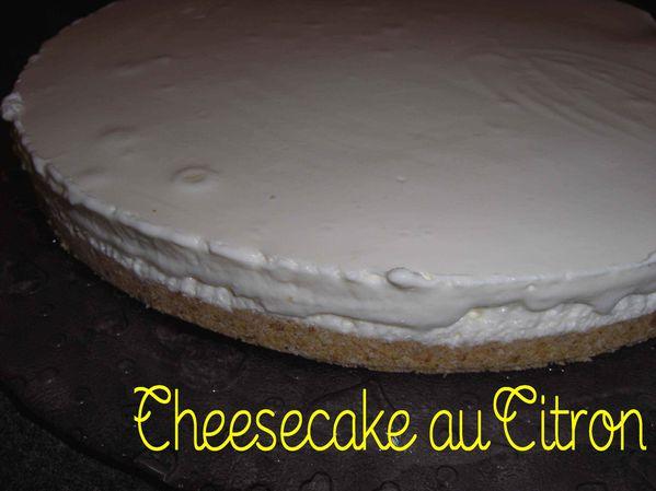 Cheesecake au citron (sans cuisson)
