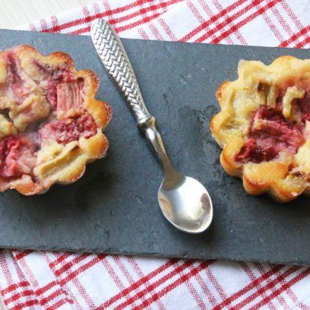 Clafoutis Fraises - Rhubarbe (recette Tupperware)