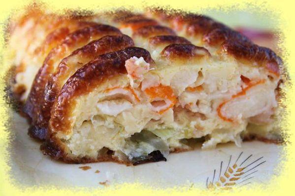Clafoutis Surimi Crevettes et Poireaux