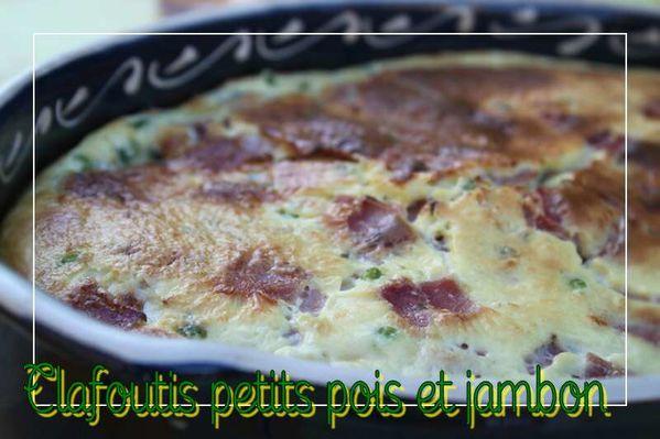 Clafoutis petits pois et jambon