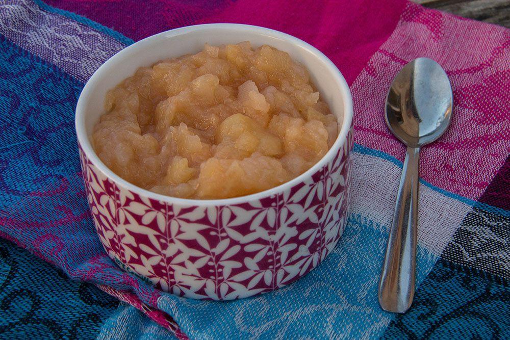 compote pommes poires et coings à l'eau de rose