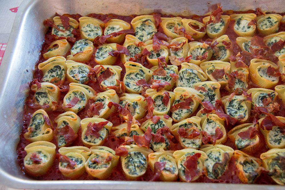Conchiglionis (ou Lumaconis) farcies à l'italienne
