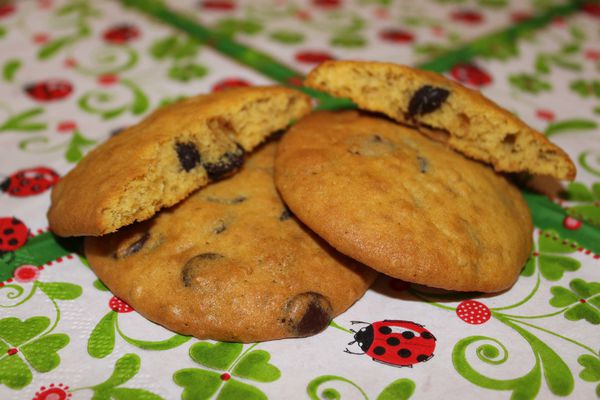 Cookies au potiron et pépites de chocolat