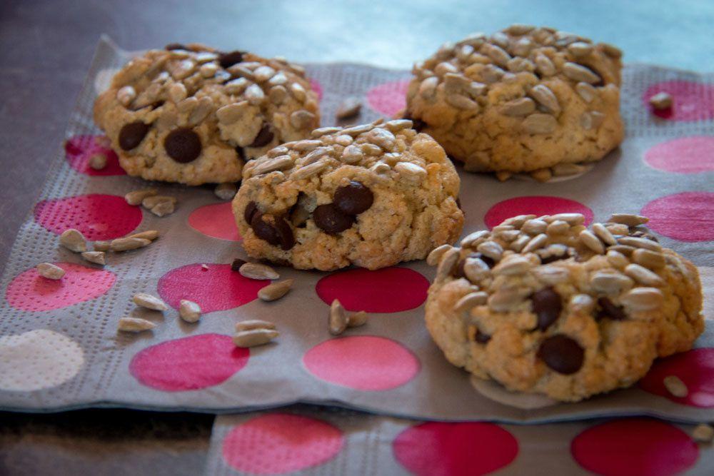 Cookies aux graines de tournesol et au chocolat