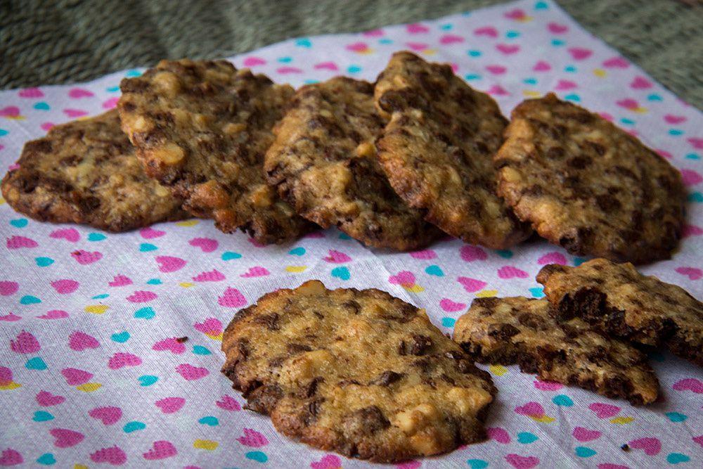 Cookies aux noix et aux éclats de chocolat (recette d'Alain Ducasse)