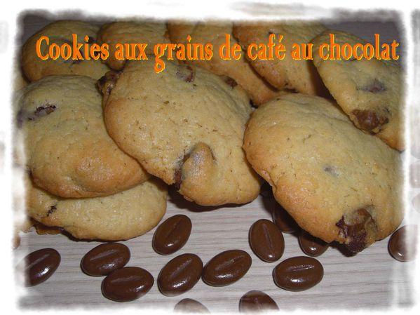 Cookies grains de café au chocolat