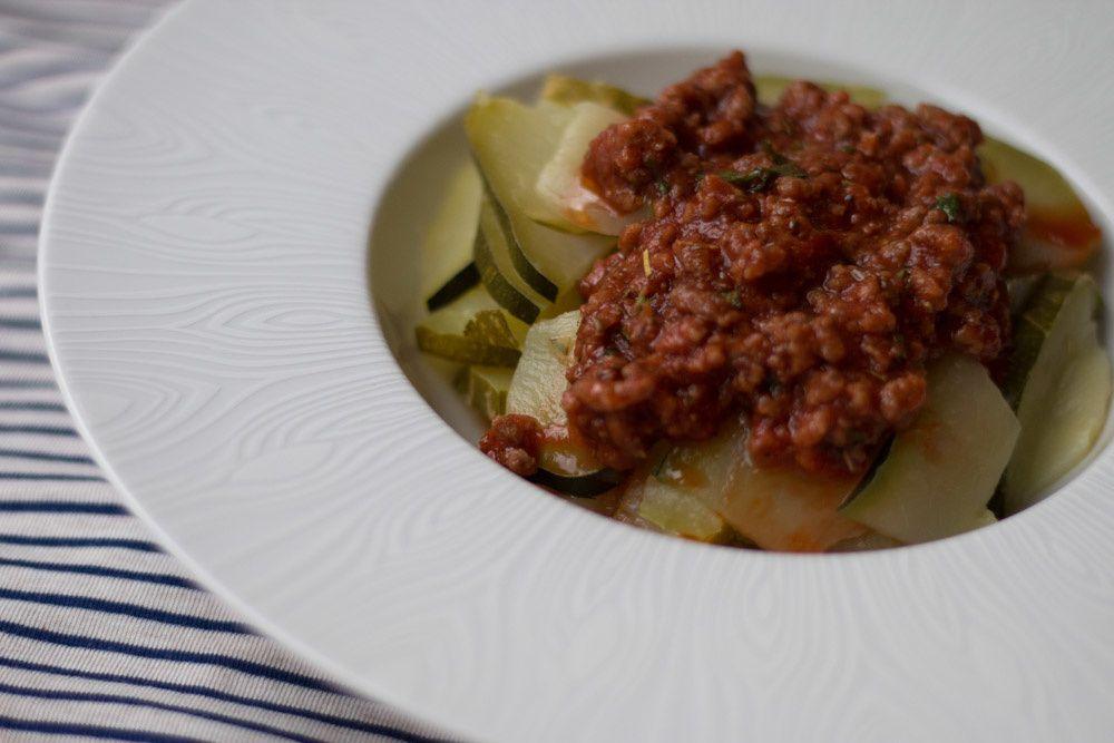 Courgettes bolognaises