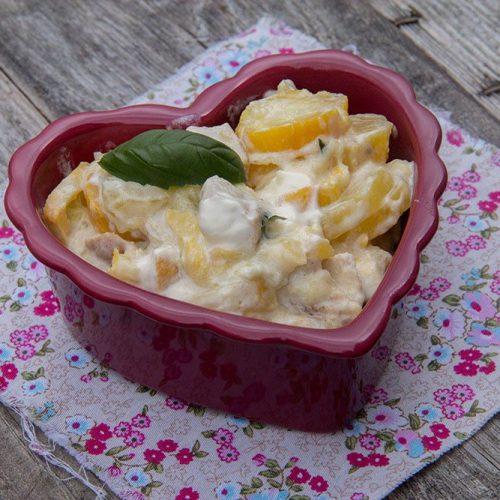 Courgettes fondantes - Sauce mascarpone et basilic (au Cookeo)