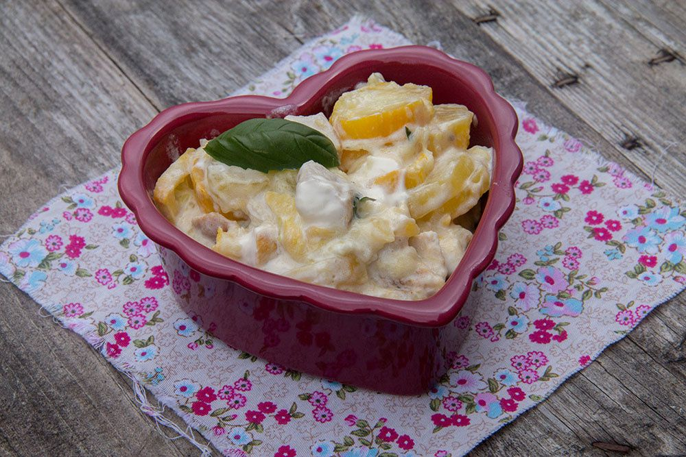 Courgettes fondantes – Sauce mascarpone et basilic (au Cookeo)