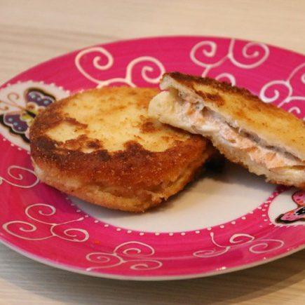 Croques panés au saumon et fromage frais