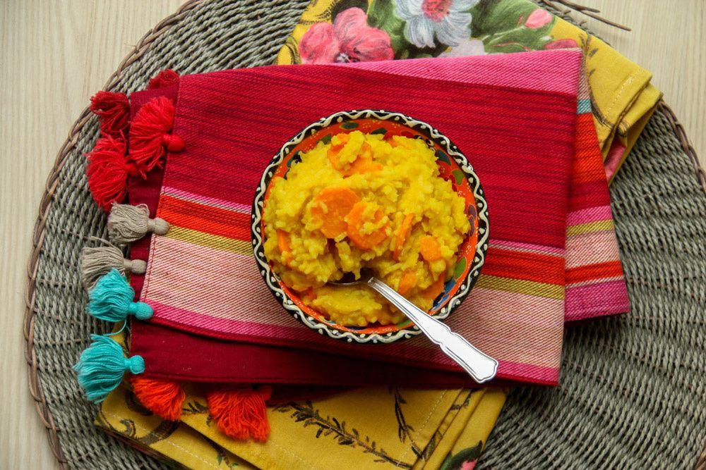 Dahl de riz et lentilles corail aux carottes