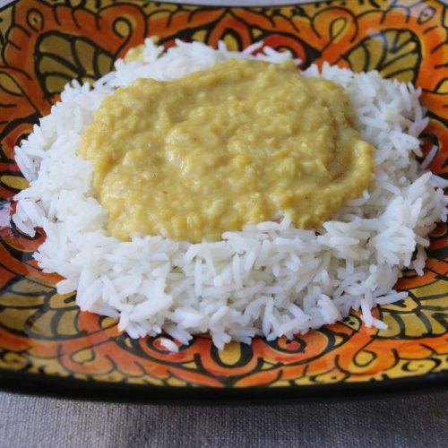Dhal de lentilles corail (curry sans gluten) au Companion
