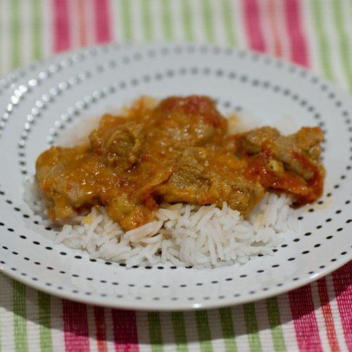 Emincé de veau au curry et à la pomme