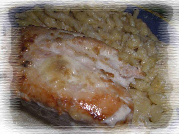 Escalopes de poulet à la soupe à l'oignon