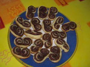 Feuilletés roulés au Nutella