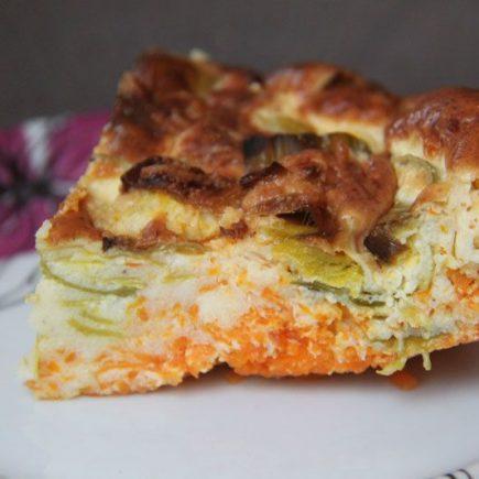 Flan de carottes aux poireaux (Recette Tupperware - UltraPro)