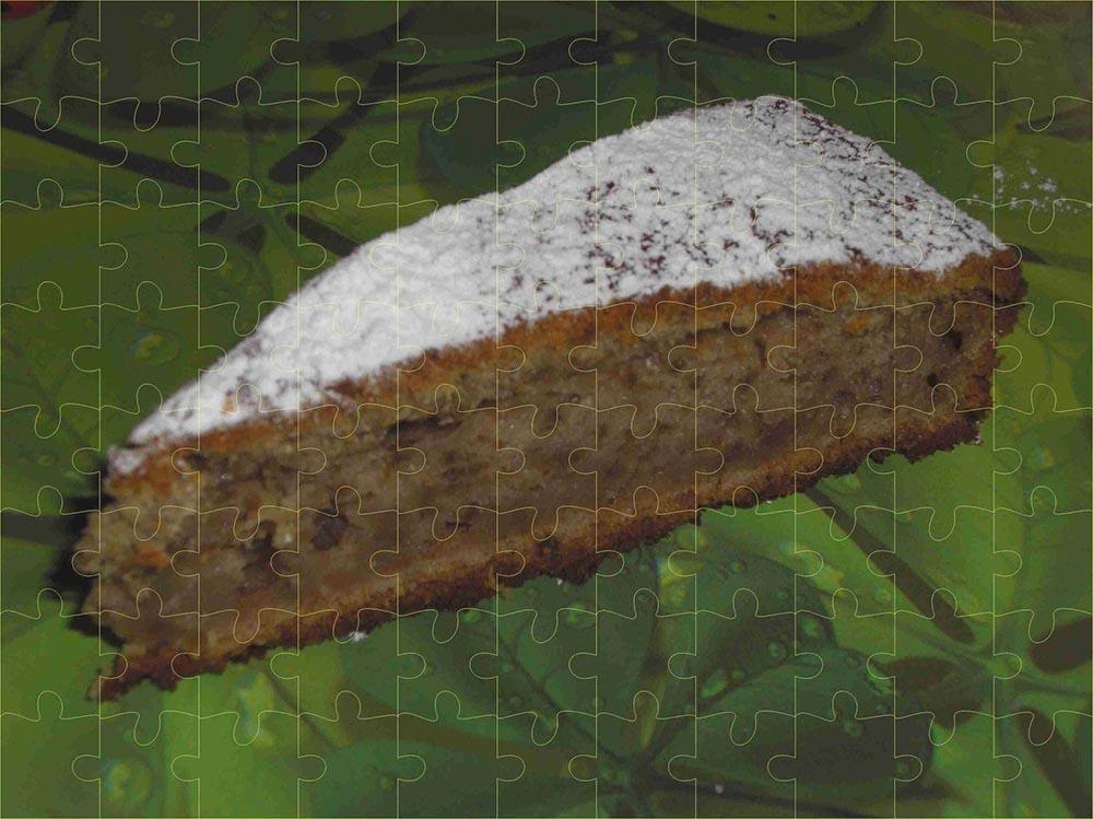 Gâteau banane et noix