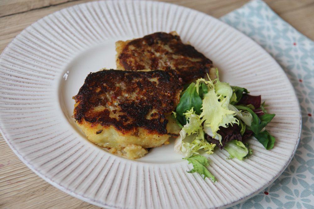 Galettes aux pommes de terre et à la viande hachée
