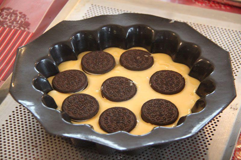 Gâteau au yaourt et aux Oreo