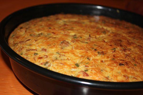 Gâteau de fromage au lard