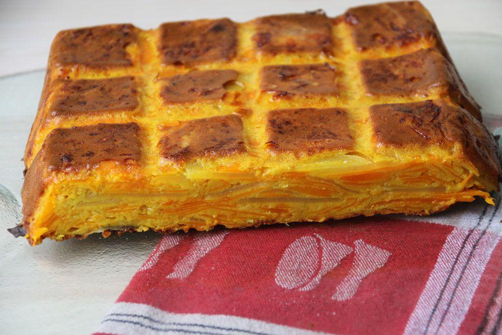 Gâteau invisible au potimarron et à la mimolette
