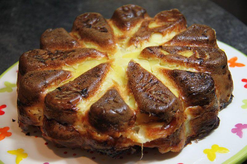 Gâteau invisible pommes de terre – raclette